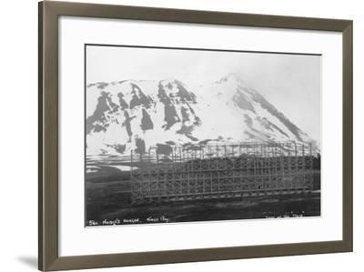 Umberto Nobile's Hangar, Base of the Airship 'Italia, Kongsfjorden, Spitzbergen, Norway, 1929--Framed Photographic Print