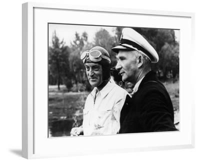 Sir Malcolm Campbell, on the Left, Possibly at Coniston, 1939--Framed Photographic Print