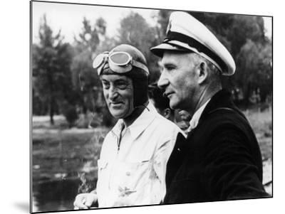 Sir Malcolm Campbell, on the Left, Possibly at Coniston, 1939--Mounted Photographic Print