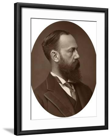 Sir Charles Wentworth Dilke, Mp, Under-Secretary of State for Foreign Affairs, 1881--Framed Photographic Print