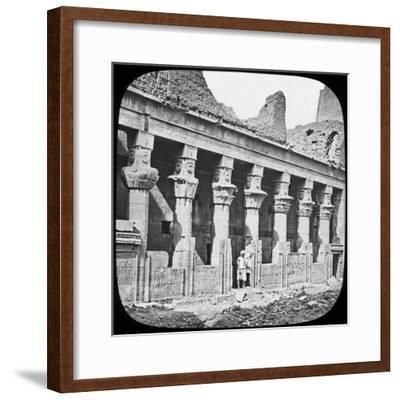 Colonnade of the Temple of Isis, Philae, Egypt, C1890--Framed Photographic Print