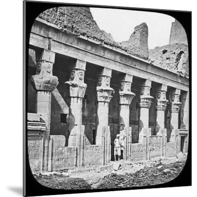 Colonnade of the Temple of Isis, Philae, Egypt, C1890--Mounted Photographic Print