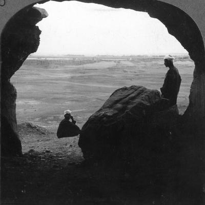 Walled City of El Kab, Seen from a Door of a Tomb in the Cliffs, Egypt, 1905-Underwood & Underwood-Framed Photographic Print