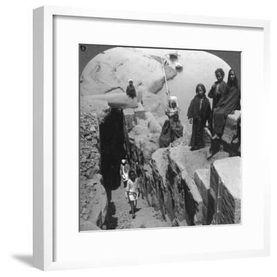 The Nilometer (Measurer of Inundation) at the First Cataract, Egypt, 1905-Underwood & Underwood-Framed Photographic Print