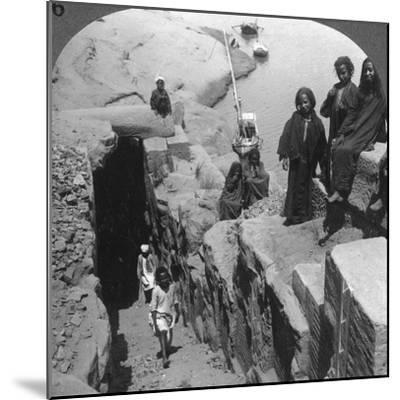 The Nilometer (Measurer of Inundation) at the First Cataract, Egypt, 1905-Underwood & Underwood-Mounted Photographic Print