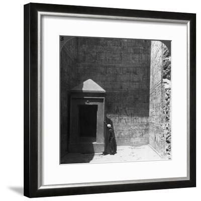 The Holy of Holies and Shrine for the Divine Image, Temple of Edfu, Egypt, 1905-Underwood & Underwood-Framed Photographic Print