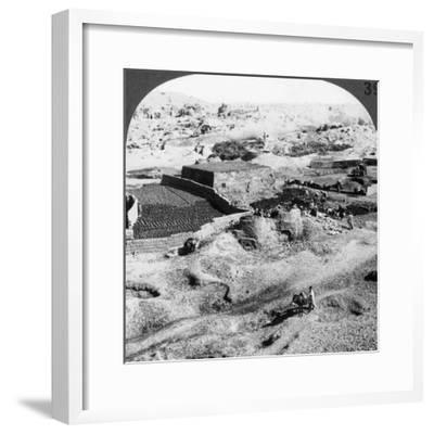 Brickmaking, Egypt, 1905-Underwood & Underwood-Framed Photographic Print