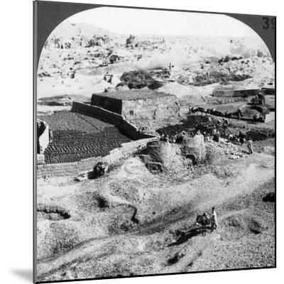 Brickmaking, Egypt, 1905-Underwood & Underwood-Mounted Photographic Print