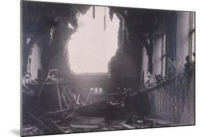 Interior View of Middle Temple Hall, City of London, after an Air Raid, C1941--Mounted Photographic Print