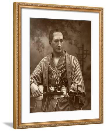 Durward Lely, Scottish Opera Singer, in Gilbert and Sullivan's the Mikado, 1887-Ernest Barraud-Framed Photographic Print
