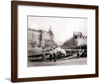 Two Boys by a Canal, Rotterdam, 1898-James Batkin-Framed Photographic Print