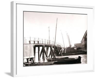 Canal Boats, Marken Island, Netherlands, 1898-James Batkin-Framed Photographic Print