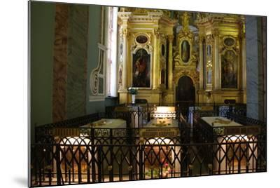 Interior, Peter and Paul Cathedral, St Petersburg, Russia, 2011-Sheldon Marshall-Mounted Photographic Print