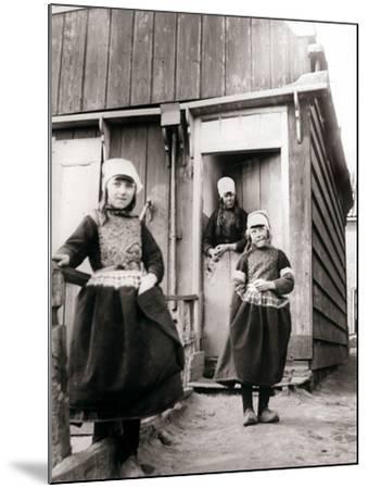 Girls in Traditional Dress, Marken Island, Netherlands, 1898-James Batkin-Mounted Photographic Print