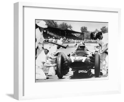 Jack Brabham's Cooper in the Pits, Indianapolis 500, Indiana, USA, 1961--Framed Photographic Print