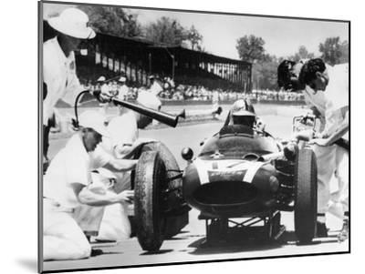 Jack Brabham's Cooper in the Pits, Indianapolis 500, Indiana, USA, 1961--Mounted Photographic Print