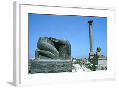 Pompey's Pillar, Alexandria, Egypt--Framed Photographic Print