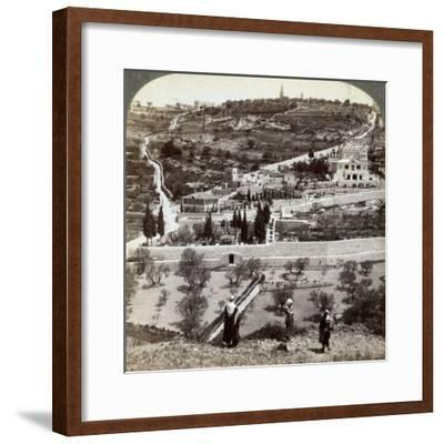 The Garden of Gethsemane and the Mount of Olives, Palestine, 1908-Underwood & Underwood-Framed Photographic Print