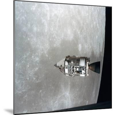 The Apollo 15 Command and Service Modules in Lunar Orbit, 1971--Mounted Photographic Print
