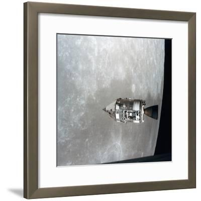 The Apollo 15 Command and Service Modules in Lunar Orbit, 1971--Framed Photographic Print