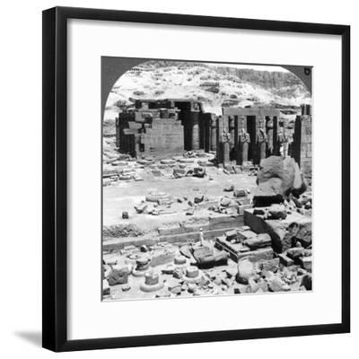 The Ramesseum, the Temple of Ramses Ii, at Thebes, Egypt, 1905-Underwood & Underwood-Framed Photographic Print