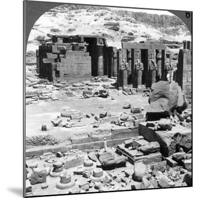 The Ramesseum, the Temple of Ramses Ii, at Thebes, Egypt, 1905-Underwood & Underwood-Mounted Photographic Print