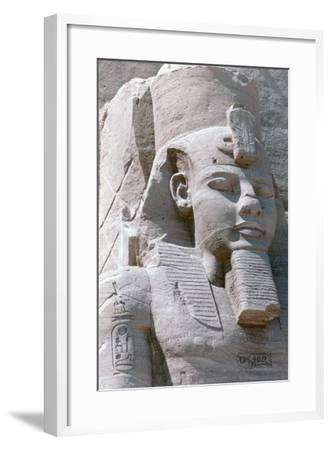 Colossal Statue of Rameses II, Temple of Abu Simbel, Egypt, 13th Century BC--Framed Photographic Print