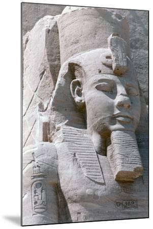 Colossal Statue of Rameses II, Temple of Abu Simbel, Egypt, 13th Century BC--Mounted Photographic Print