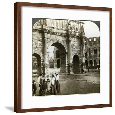 Arch of Constantine, Rome, Italy-Underwood & Underwood-Framed Photographic Print