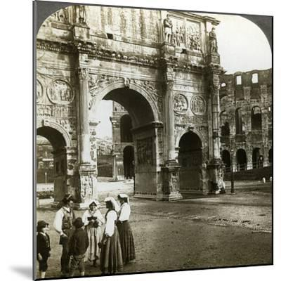 Arch of Constantine, Rome, Italy-Underwood & Underwood-Mounted Photographic Print