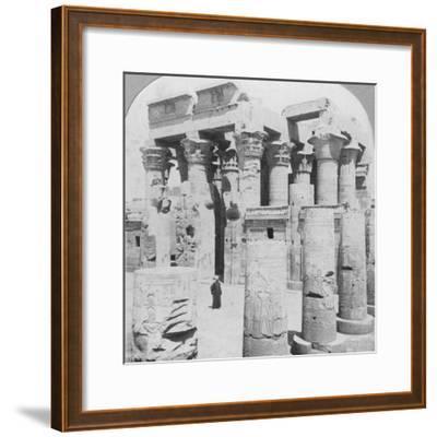 Temple of Kom Ombo, Egypt, C1899--Framed Photographic Print