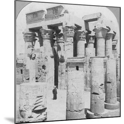 Temple of Kom Ombo, Egypt, C1899--Mounted Photographic Print