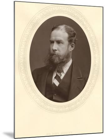 John Lubbock, First Baron Avebury, English Banker, Archaeologist, Naturalist and Politician, C1880--Mounted Photographic Print