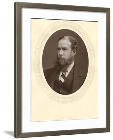 John Lubbock, First Baron Avebury, English Banker, Archaeologist, Naturalist and Politician, C1880--Framed Photographic Print