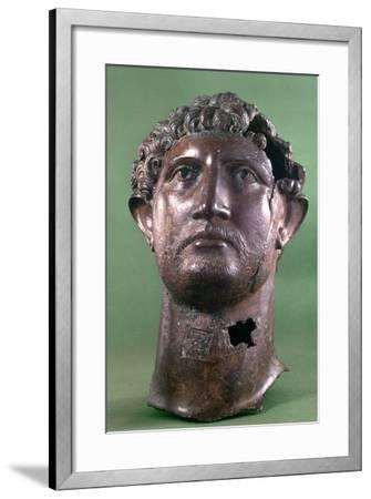 Bronze Head of the Emperor Hadrian, 2nd Century Ad--Framed Photographic Print