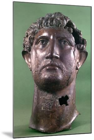 Bronze Head of the Emperor Hadrian, 2nd Century Ad--Mounted Photographic Print