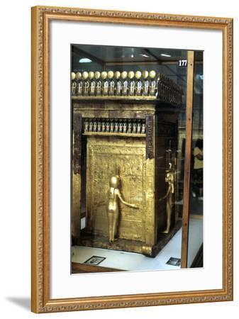 Golden Shrine of the Egyptian Pharoah Tutankhamun, C1325 Bc--Framed Photographic Print