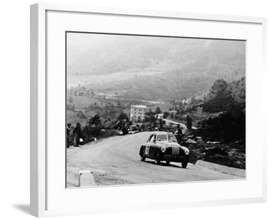 Fiat 1100S Berlinetta Competing in the Mille Miglia, Italy, 1947--Framed Photographic Print
