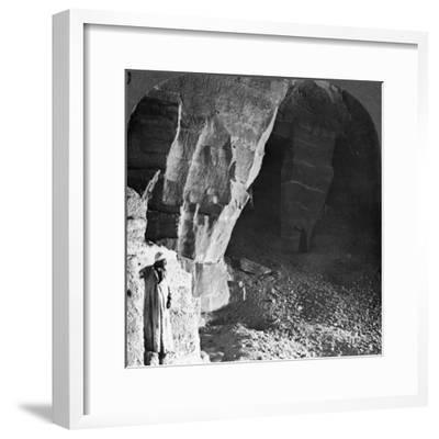 Quarry Chambers of Masara, Egypt, 1905-Underwood & Underwood-Framed Photographic Print