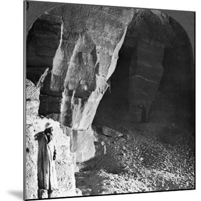 Quarry Chambers of Masara, Egypt, 1905-Underwood & Underwood-Mounted Photographic Print