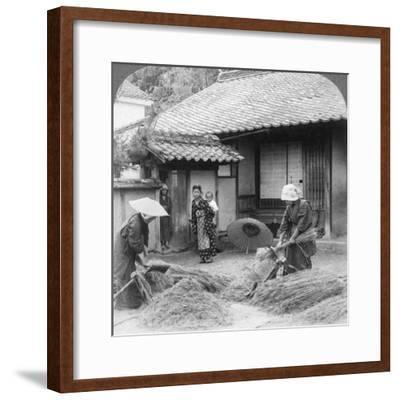 Farmers Wives at Work, Iwakuni, Japan, 1904-Underwood & Underwood-Framed Photographic Print