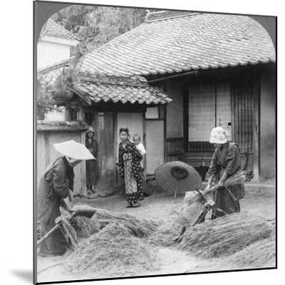 Farmers Wives at Work, Iwakuni, Japan, 1904-Underwood & Underwood-Mounted Photographic Print