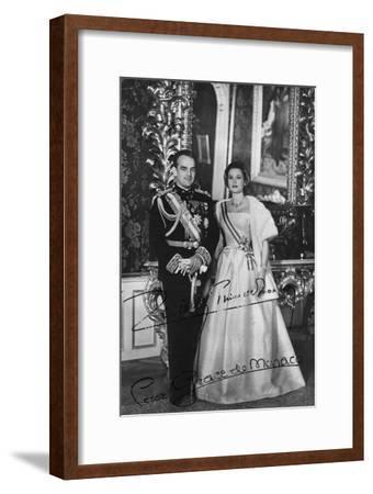 Prince Rainier III and Princess Grace of Monaco, 20th Century--Framed Photographic Print