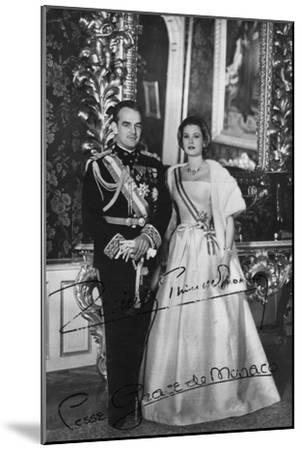 Prince Rainier III and Princess Grace of Monaco, 20th Century--Mounted Photographic Print