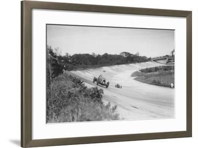 Henry Birkin in a Bentley, Brooklands, Surrey, (C1932)--Framed Photographic Print
