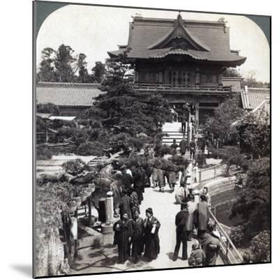 Main Gateway to Kameido Temple, Tokyo, Japan, 1904-Underwood & Underwood-Mounted Photographic Print