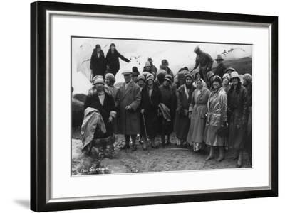 Group of Tourists Visiting Svartisen, Northern Norway, 1929--Framed Photographic Print