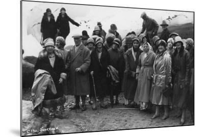 Group of Tourists Visiting Svartisen, Northern Norway, 1929--Mounted Photographic Print