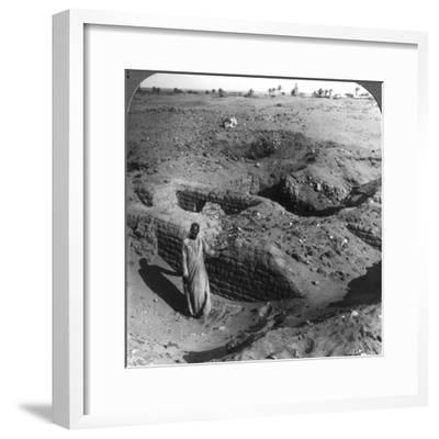 The Brick Store Chambers of Pithom, Built by Hebrew Bondsmen, Egypt, 1905-Underwood & Underwood-Framed Photographic Print