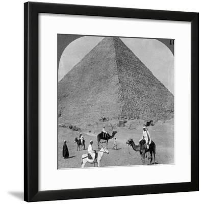 King Khufu's Tomb, the Great Phyramid of Giza, Egypt, 1905-Underwood & Underwood-Framed Photographic Print